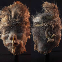 Shrunken head replica