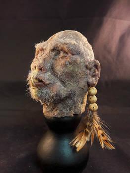 Silicone shrunken head replica
