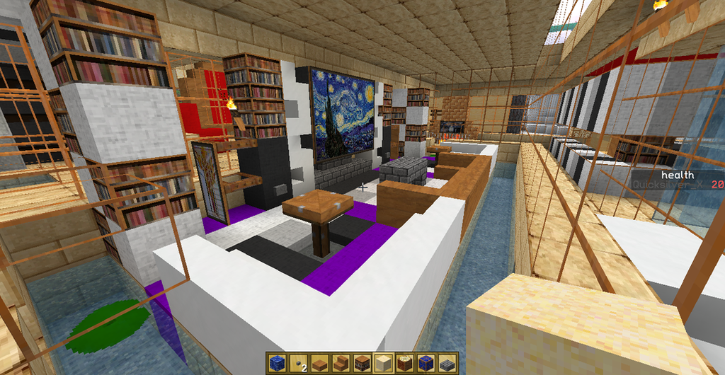 Minecraft house design living room by quicksilver x on for 8x8 living room ideas