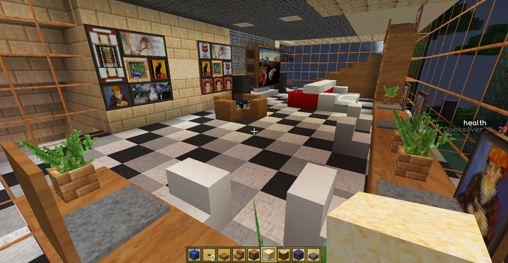 Back Gt Gallery For Gt Minecraft Living Room Design