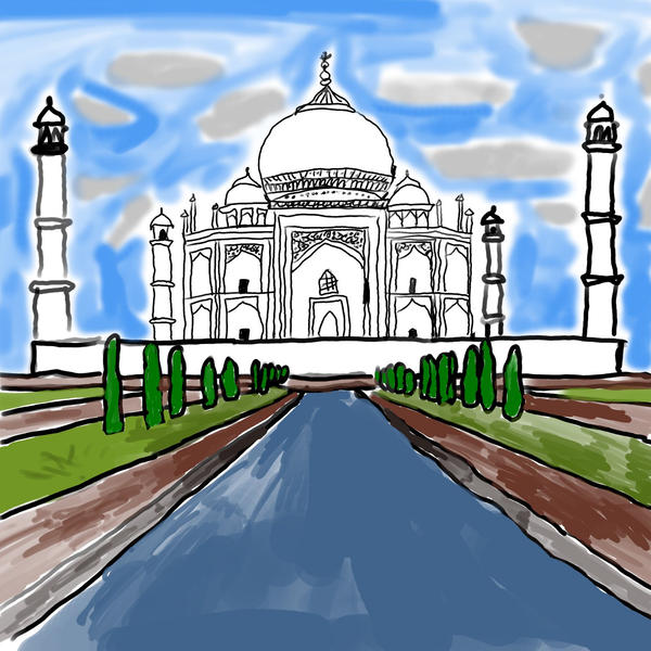 taj mahal drawing by argussov
