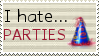 I hate parties stamp by Argussov