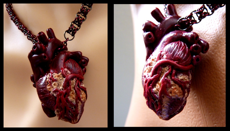 Human Heart Necklace by Divulged