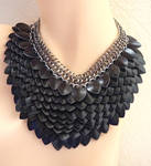 Black Scalemaille Necklace 2