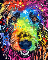 irish wolfhound by deanrussoart