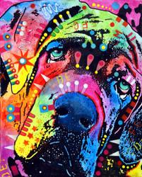 neopolitan mastiff by deanrussoart