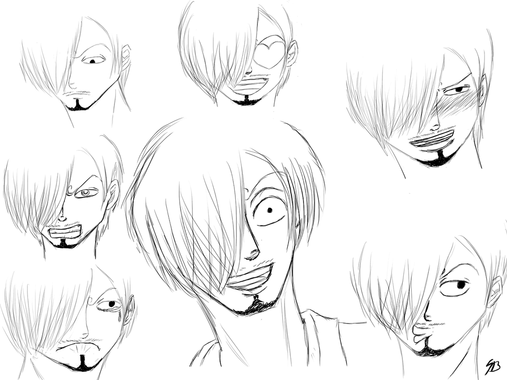 Sanji expression sketches by seven bridges