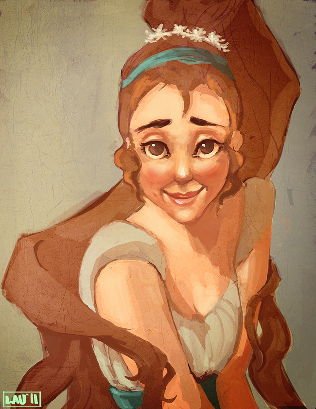 Thumbelina portrait illustration