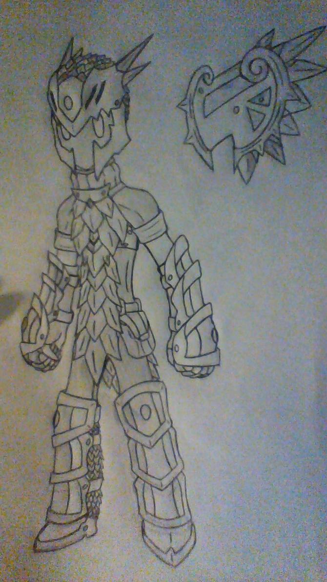 Wyvern Scale Armor by Evodolka