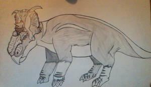 Pachyrhinosaurus Lakustai by Evodolka
