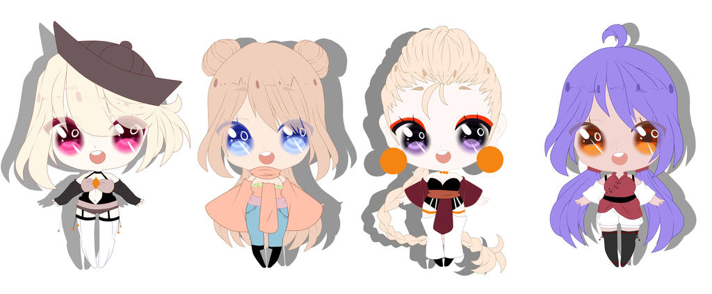 Adopts 200 points(open) 4 by Misakipictures