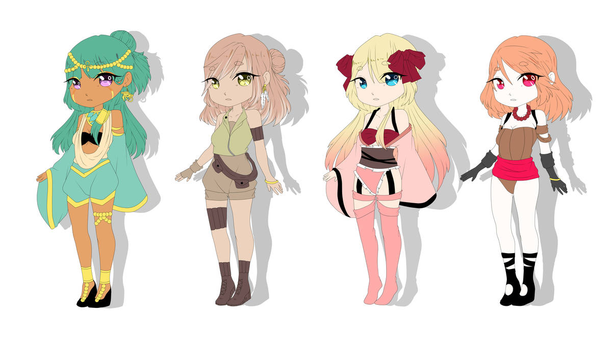 Adopts 300 points(open) 6 by Misakipictures