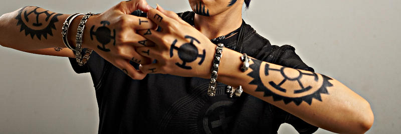 Hand and tattoos by roro1111 on deviantart for One piece law tattoos
