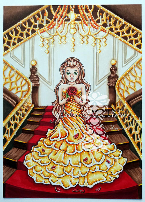 Lily Rose as Belle by SabrinaStamps