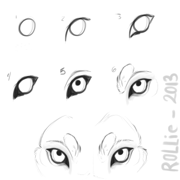 Cool Wolf Eyes Drawings