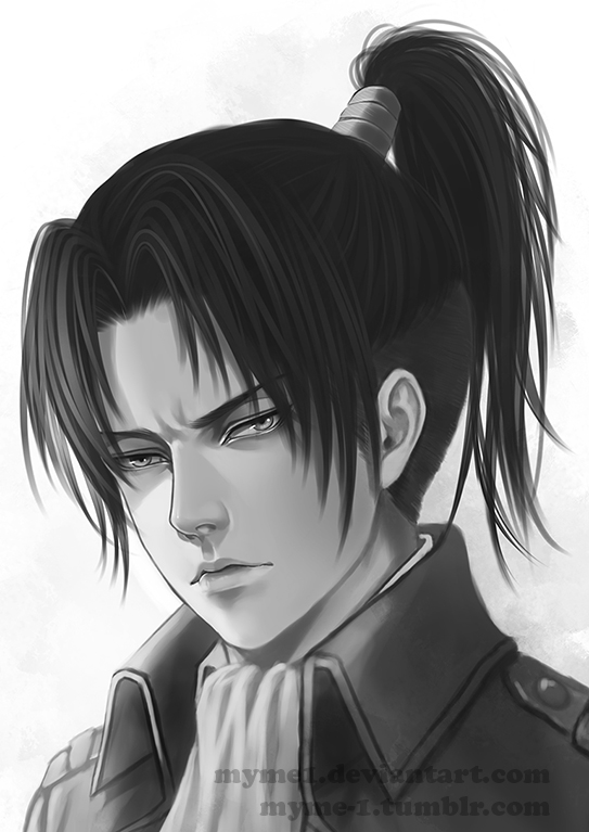 It S Just Levi With A Ponytail By Myme1 On Deviantart