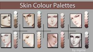 Skin Colour Palettes