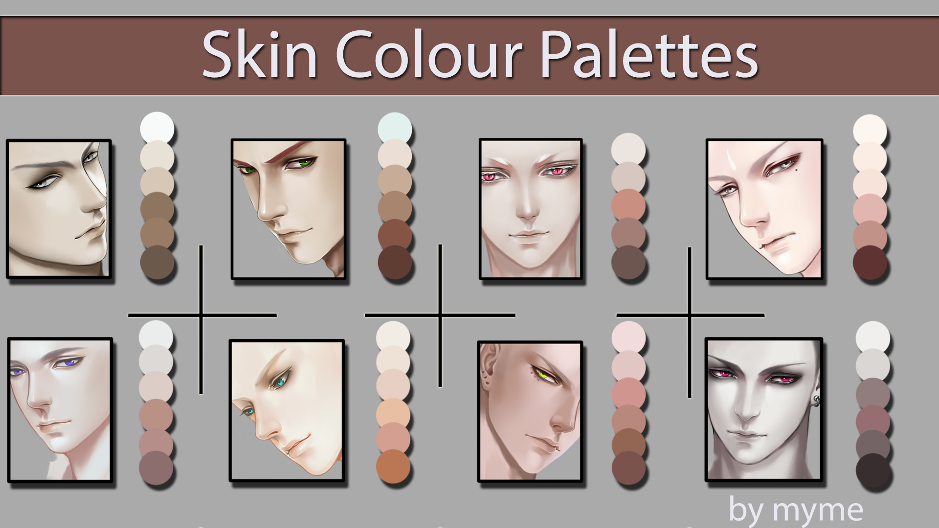 Skin Colour Palettes By Myme1 On Deviantart