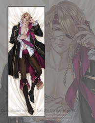 Dakimakura commission: Xander by Myme1