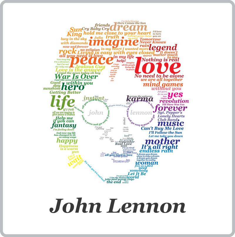 John Lennon Typographic By MrConker