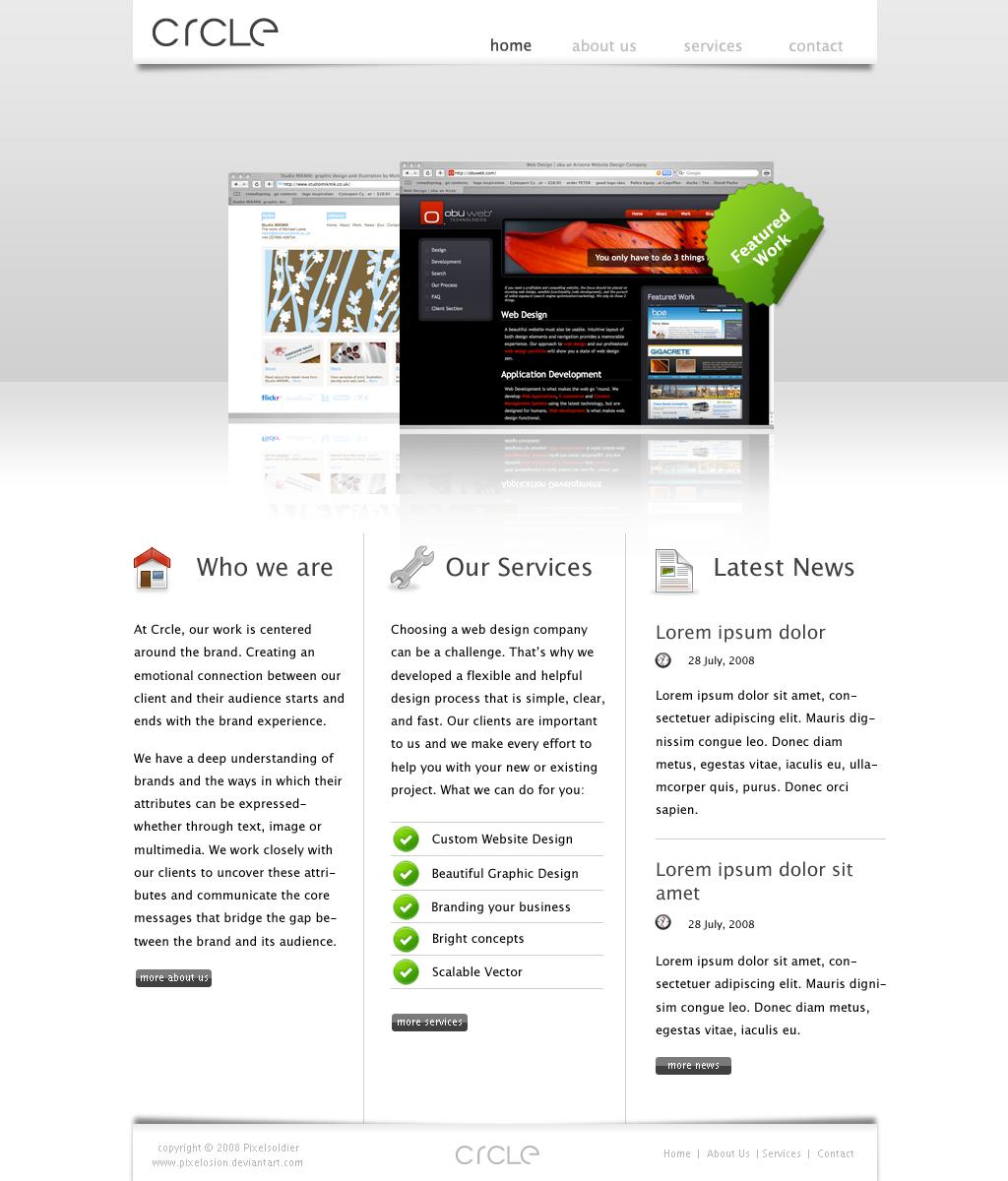 CRCLE web design studio by pixelosion