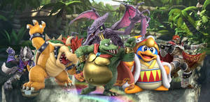 All-Star Nintendo Villains Wallpaper by VG805SMASHBROS