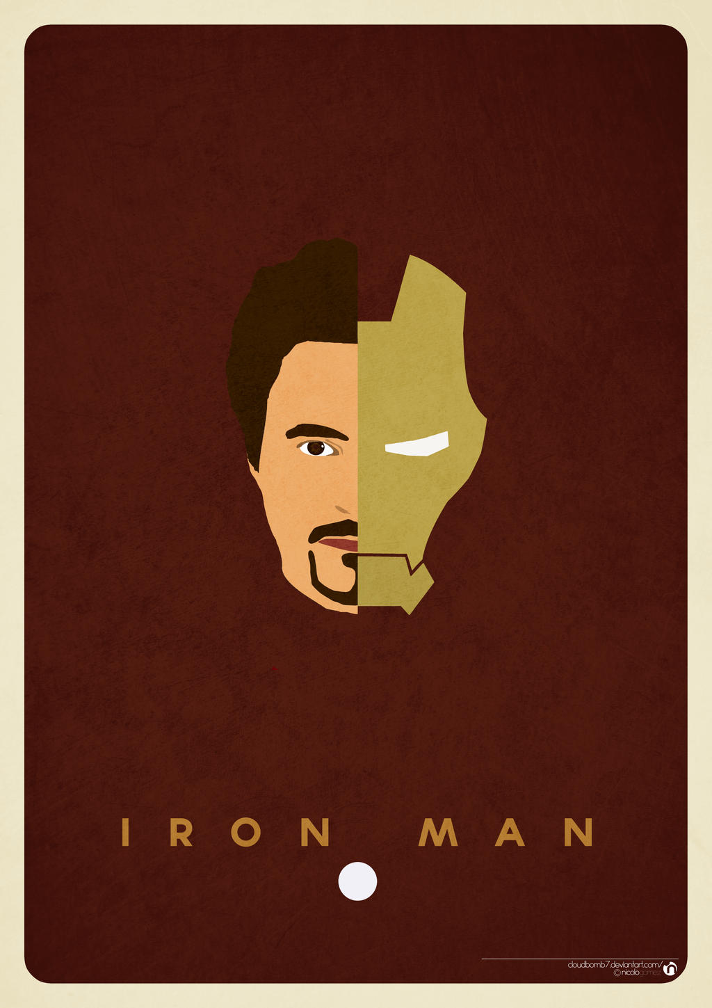 Minimalist ironman poster by cloudbomb7 on deviantart for Minimalist art pieces