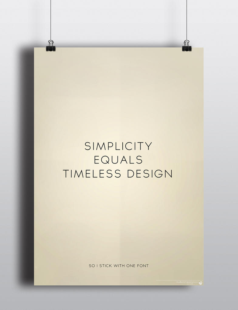 Simplicity Equals Timeless Design by nicologomez ...