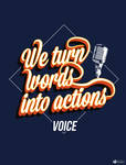We turn words into actions by nicologomez