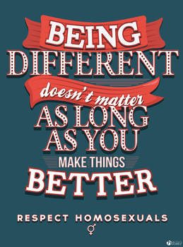 Being Different doesn't matter.