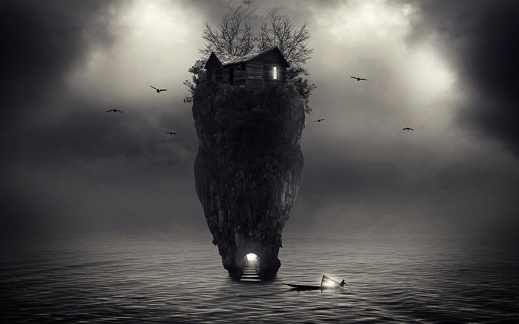 dark island by CharllieeArts