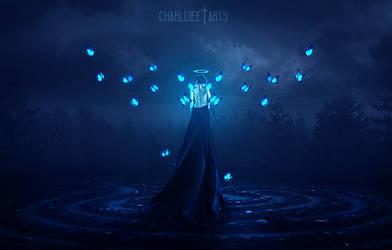 Angel, butterflies wings! by CharllieeArts