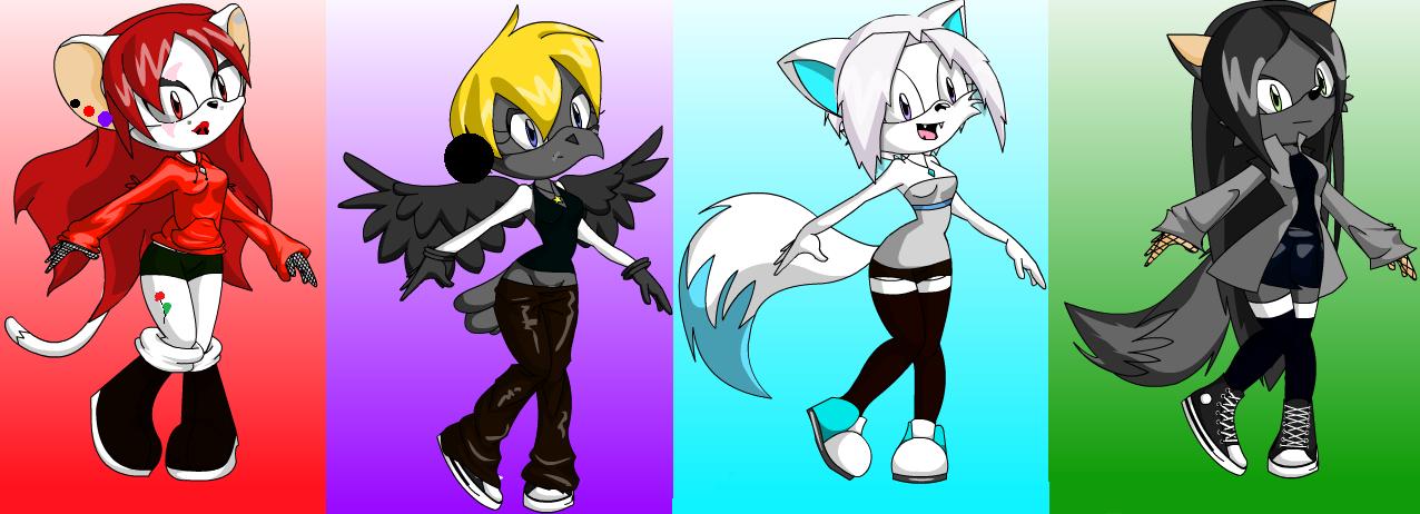 Amal, Morgana, Snow, and Ebony by poisonraven5