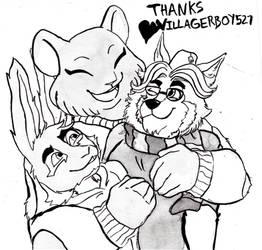 donation ink - hug - thank you villager!