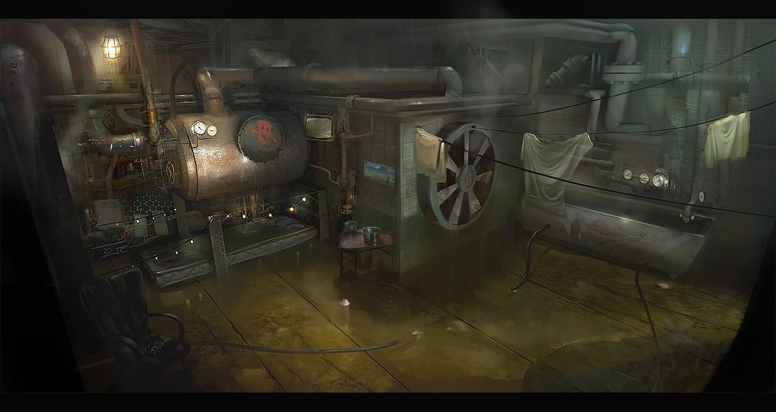 Creepy Old Boiler Room