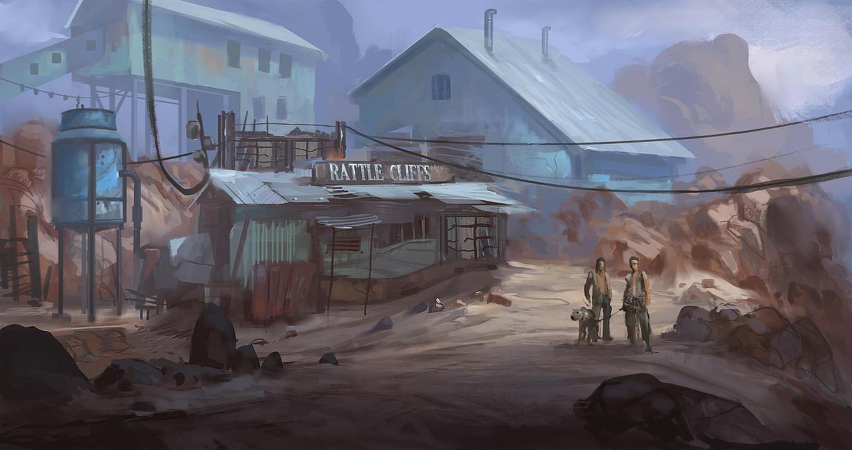 [Blabla HRP] Communauté Post-Apo Rattle_cliffs_speed_paint_by_ewkn-d425l69