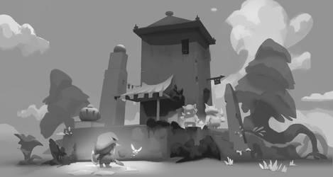 Moblins housing Link