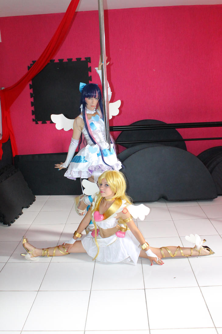Panty and Stocking - pole dance by MishiroMirage