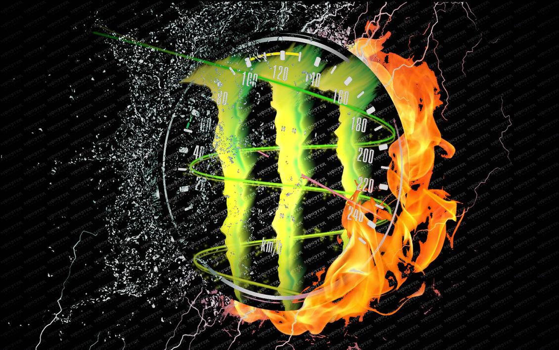Speedometer And Monster Energy Logo By Grt101 On Deviantart