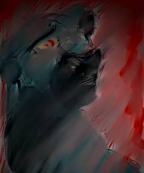 Spooky blury lion