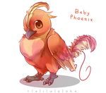 Myth Creature Babies - Phoenix