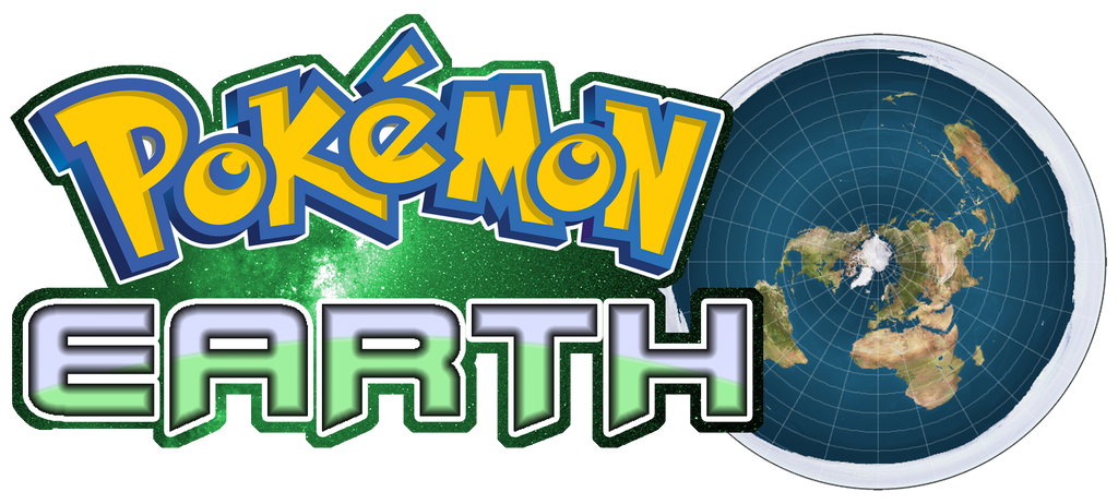 Pokemon Flat Earth Logo 612914261