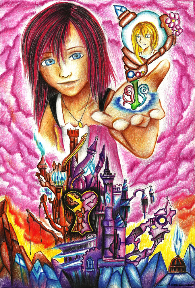 Kairi at Hollow Bastion - Kingdom Hearts by Paulcellx