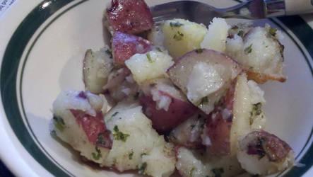 Roasted potato salad by StarbitJewels