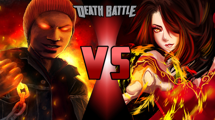 Delsin rowe vs cinder fall by battlewriter
