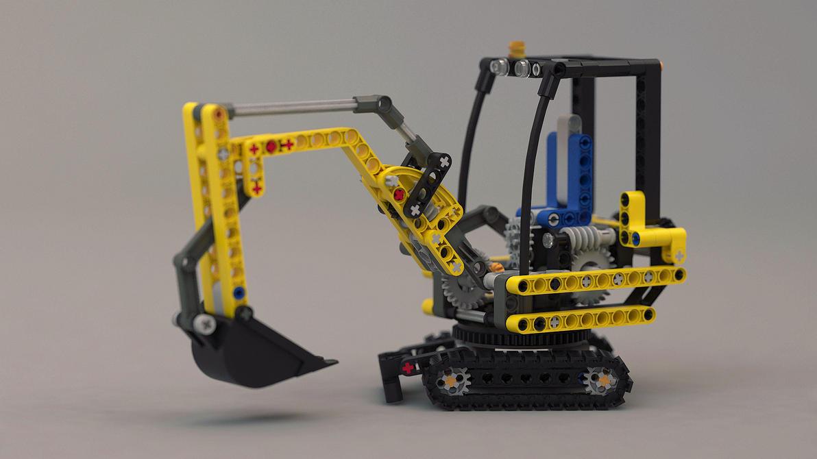lego technic bagger by loqy on deviantart. Black Bedroom Furniture Sets. Home Design Ideas