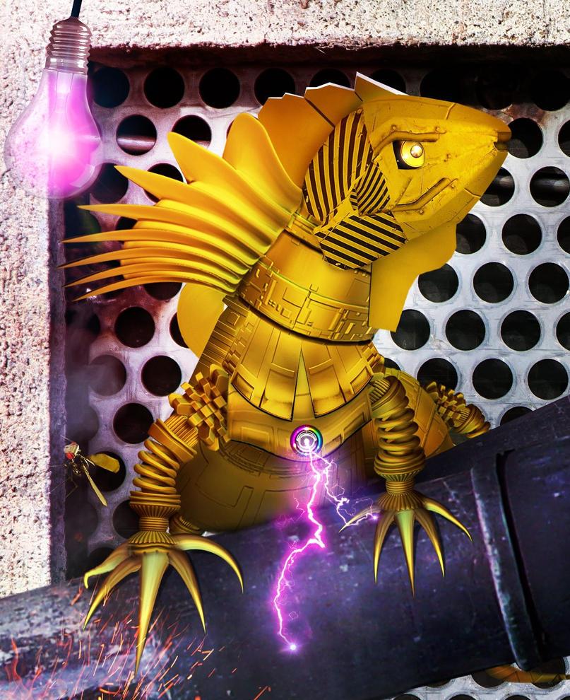 Metal Iguana by SilverK99