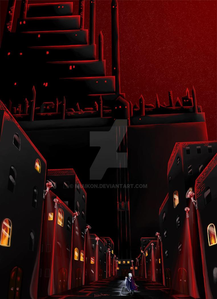 Dark Street by Miaikon