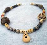 unisex bone necklace