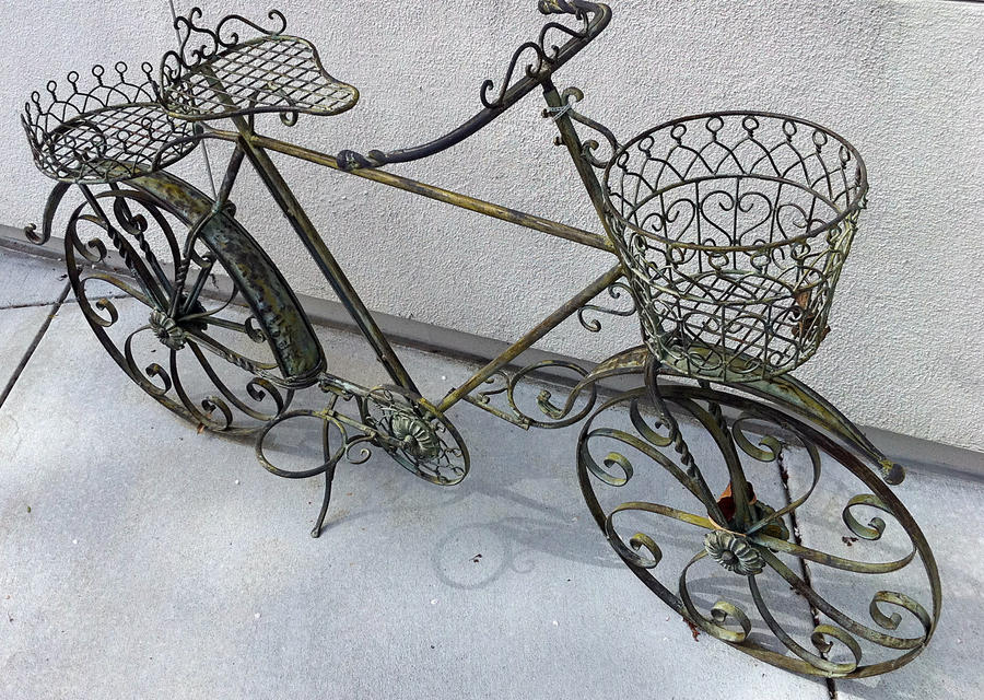 Wrought iron bicycle by merpagigglesnort on deviantart - Wrought iron bicycle wall art ...